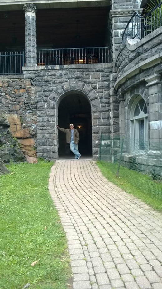 My most recent trip to the Thousand Islands (July, 2015). Celebrating my Grandparent's 60th anniversary. Picture taken at the grand entrance to Boldt Castle.