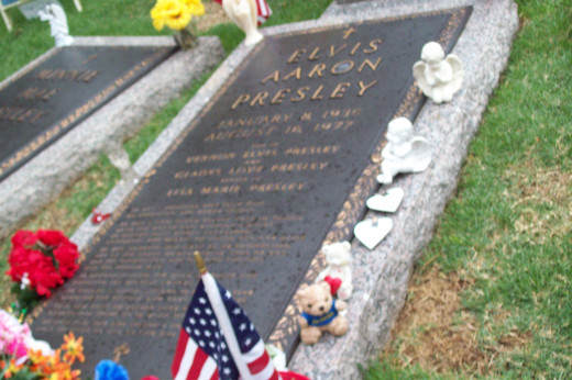 The strongest presence you'll ever know is right there by his grave side in the memorial garden at Graceland.