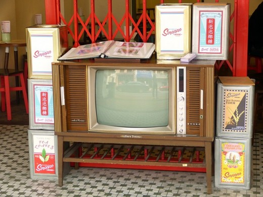 An older TV model.