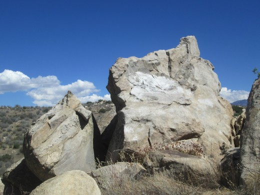 Close-up of two of the boulders.