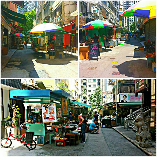 I went to Cat Street or Upper Lascar Row of Hong Kong in search of the Antique market very early in the morning and managed to secure some good deals after successful bargaining attempts. :)