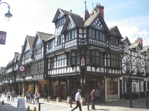 Enjoy browsing the shops in the characterful, unique Chester Rows