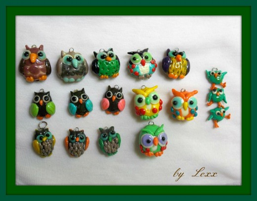 Whimsical owls.