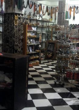Metal shop in the open-air market in Marrakech