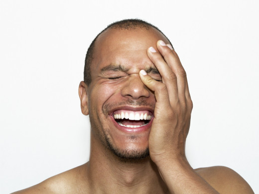 A laughing man