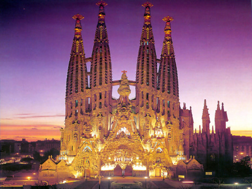 Sagrada Família at Night
