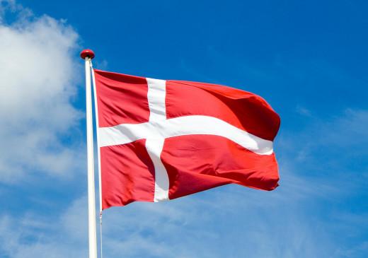 Dannebrog, the National flag of Denmark