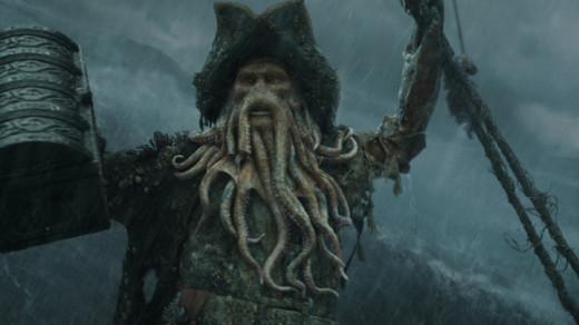 Nighy's performance still shines through the CG as Davy Jones