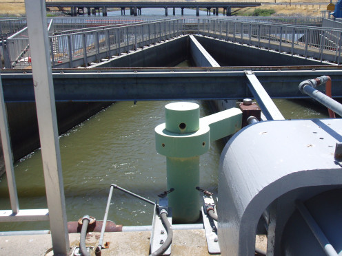 Water being pumped from the San Francisco Delta to California's farmers in the Central Valley.