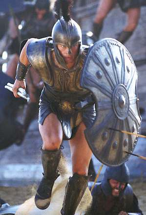 Achilles played by Brad Pitt in Troy (2004)