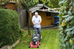 Lawn cutting: a lonely job.