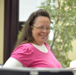 Is Kim Davis not issuing gays license to marry good enough to cast the first stone; do you think?