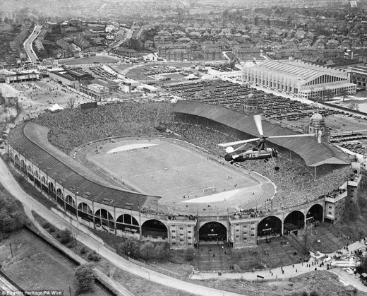 The Wembley Stadium in 1935