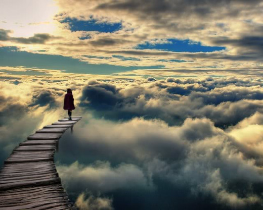 """At the end of the familiar path ... ready to leap ""heart wide open"" into the unknown, with Love."" ~ Ruth Bondy Wannek"