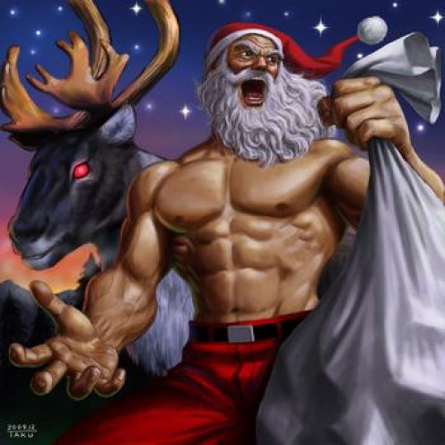 Saul's impression of CEO Santa.