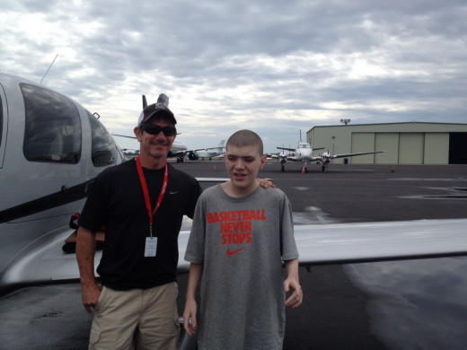 Alex and Captain Terry from Angel Flight.