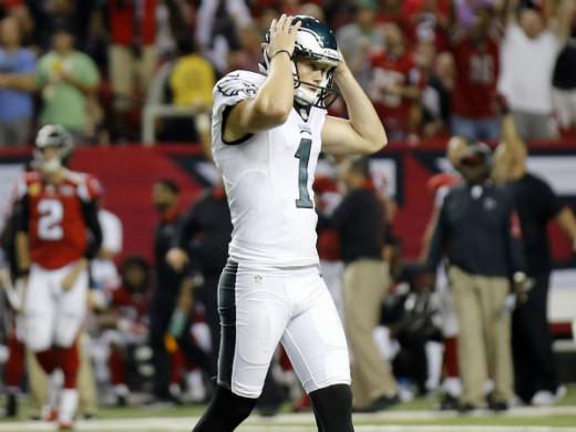 Philadelphia Eagles kicker Cody Parkey missing a FG in Atlanta
