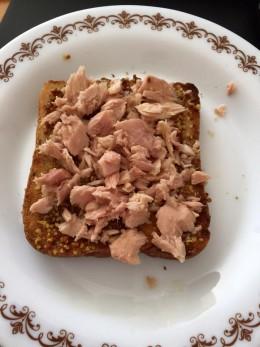 Tuna And Mustard On Toast