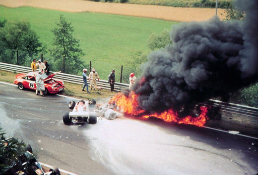 Lauda's accident in 1976.