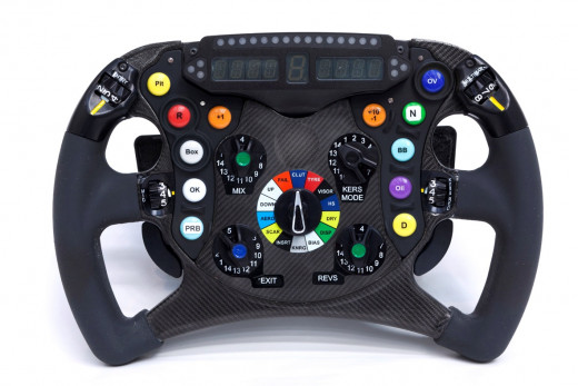 Standard steering wheel of today's F1 cars.