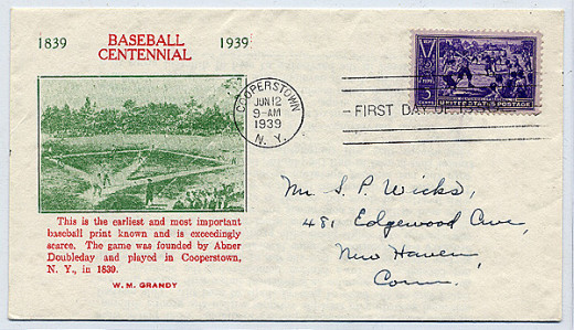This is a baseball cover, and collectors usually value such covers in their collections.