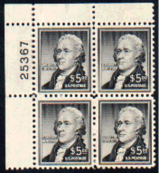 A common plate block of four