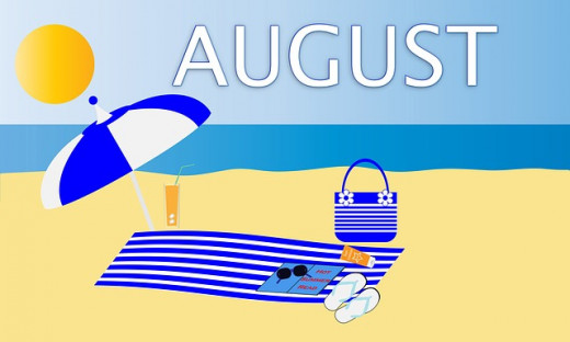August, the month of beaches, sun tans, and flip flops.