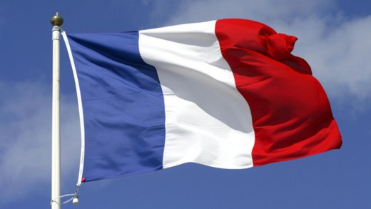 The French tricolour flag