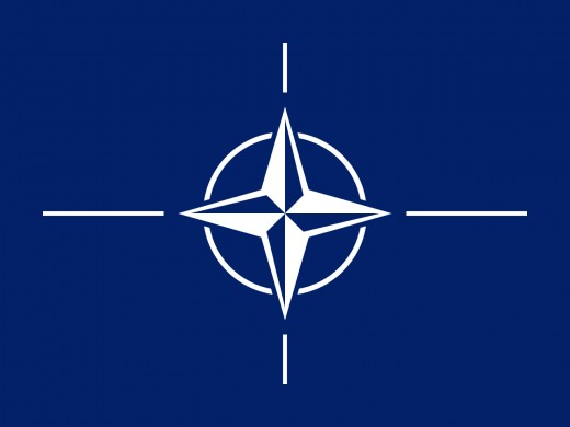 The NATO Flag which France is a permanent member of.