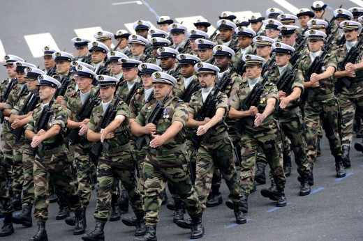 The French army is one of the most technologically advanced armies in the world.