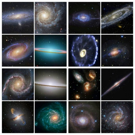 Just a few examples of galaxies in our universe!