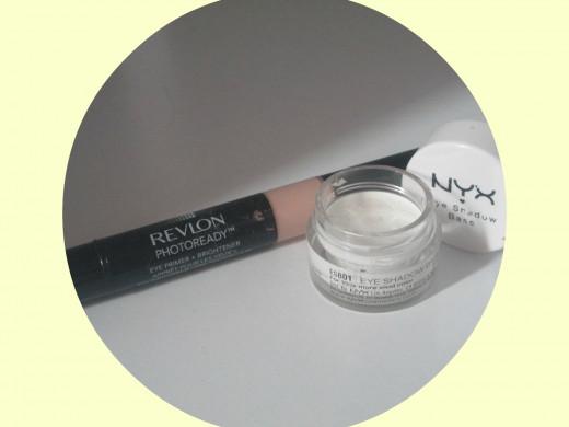 Revlon Eye Primer & NYX Eye Shadow Base in White