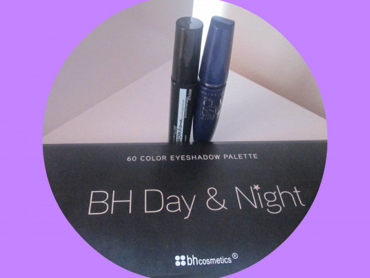 Bh Cosmetics Day & Night Palette, Maybelline Volume Classic Mascara & Maybelline Brow Gel