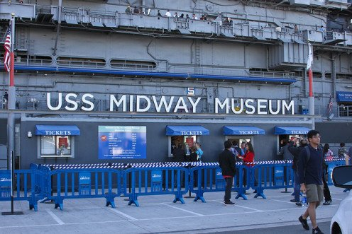 Entrance To USS Midway Museum
