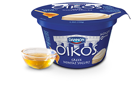 Oikos Greek yogurt with honey