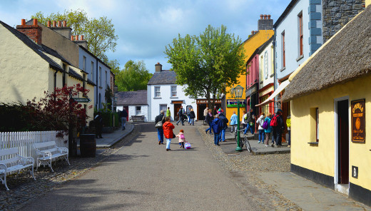 The Folk Park has an authentic 18th century village street.