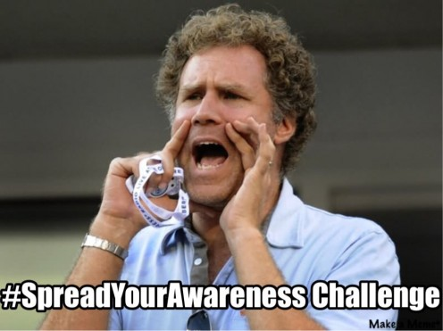 '#SpreadYourAwareness Challenge' added using Meme Generating Application.