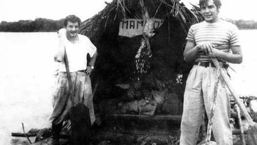 Ernesto Guevara (right) and Alberto (left)