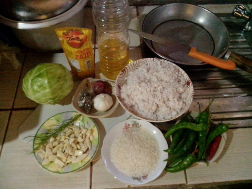 Ingredients for HOT & SPICY PILI NUTS in CABBAGE ROLLS Photo Source: Ireno Alcala