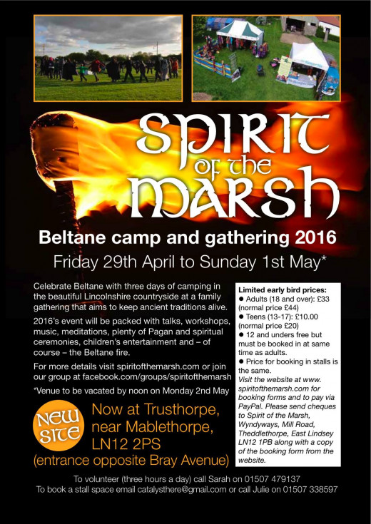Beltane Camp and Gathering May 2016 Trustthorpe Nr. Mablethorpe.