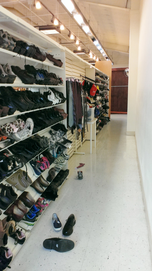 "Please, don't ever face your shoes against a blank wall. Look what happens. Everyone forgets they are there. Plus that back wall is wasted space. And can you say ""hello steal me """