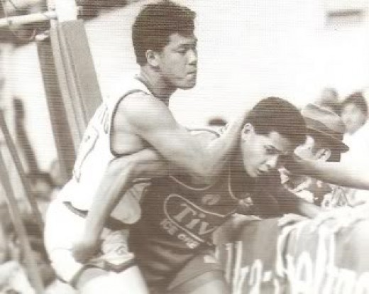 Rudy Distrito and Gerry Esplana,  Philippine Basketball Association 1990s