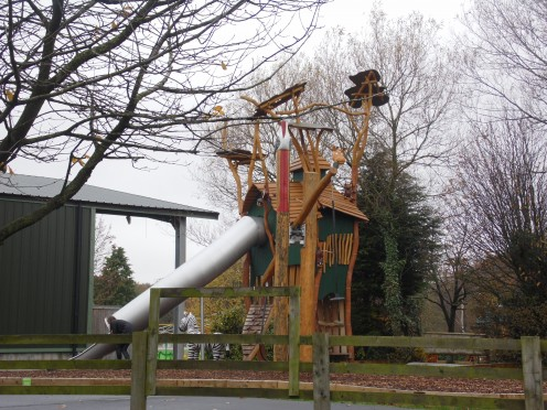 The kids play area at Knowsley Safari Park.