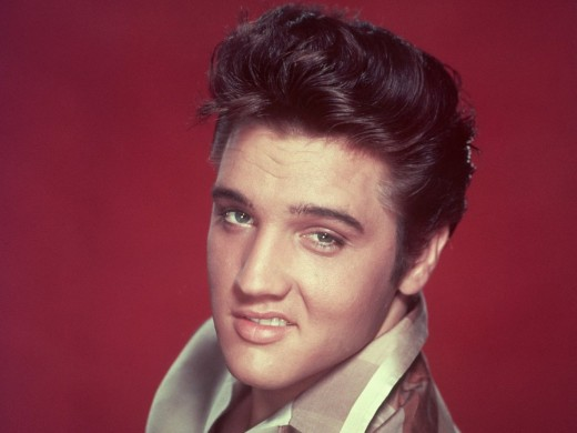 Elvis Presley, one of the most iconic rock stars of the 1950s.