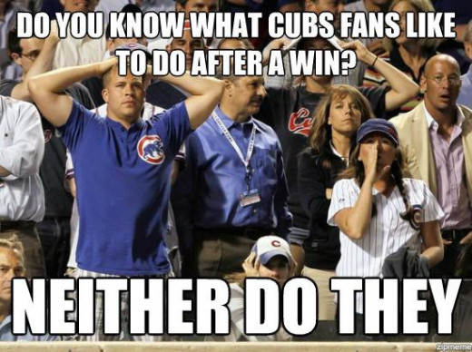 One of the many memes mocking the Cubs and their fans