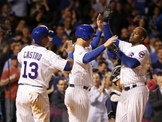 Starlin Castro, Anthony Rizzo and Jorge Soler, three of the Cubs top young talent