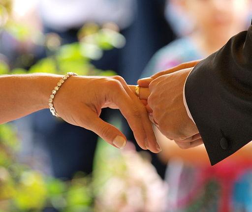 Placing a wedding ring