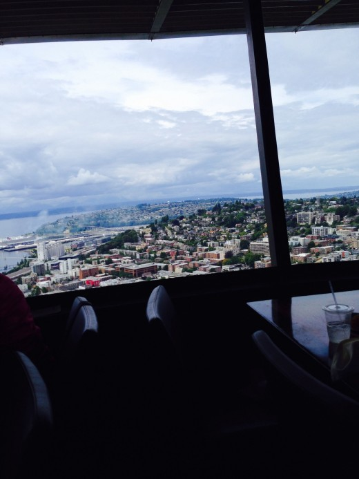 View from our lunch table in the Space Needle, 2015.