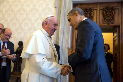 Pope Francis with President Barack Obama