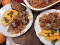 Lunar Eclipse Stuffed Mushrooms With Spaghetti
